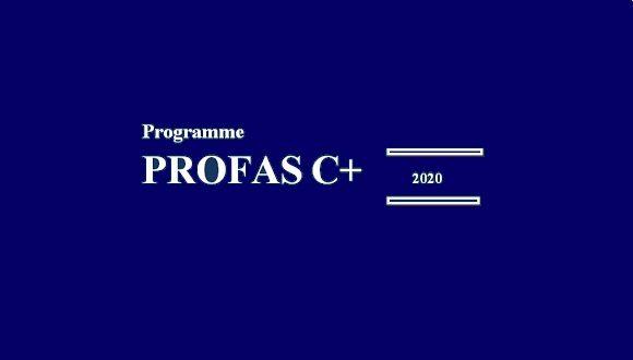 برنامج الشراكة المؤسسية الجزائرية الفرنسية PROFAS C + 2020