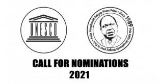 دعوة للترشح لنسخة 2021 لجائزة اليونسكو للسلام Félix Houphouët-Boigny