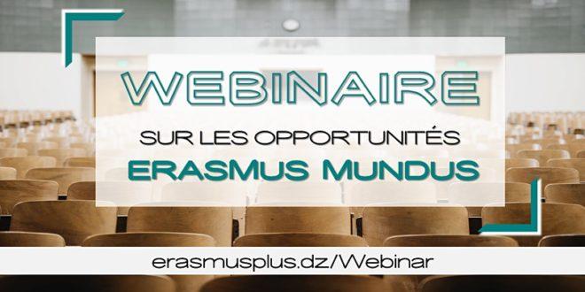 Webinaire - Bourses Erasmus Mundus (pour étudiants)